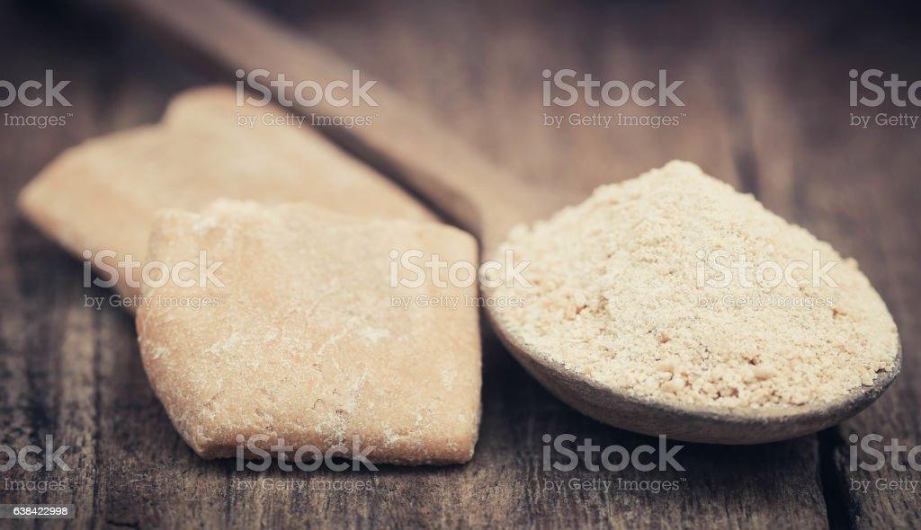 Ferula assafoetida or Hing spice stock photo