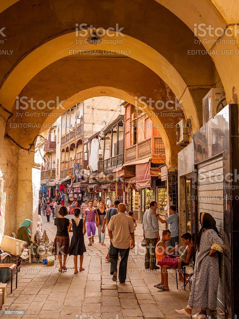 Fes Medina, Morocco stock photo