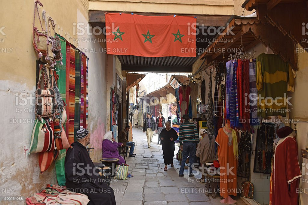 Fes street scene stock photo