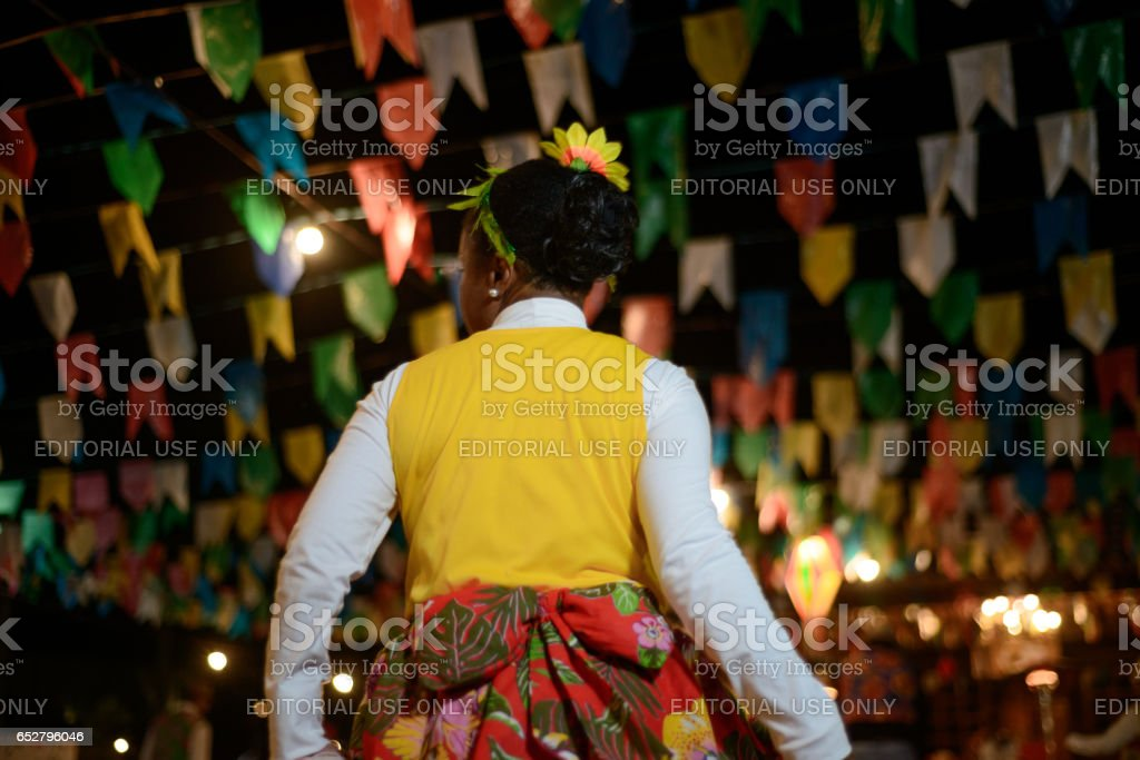 Festa Junina Tradition in Brazil (Festa de São João) stock photo