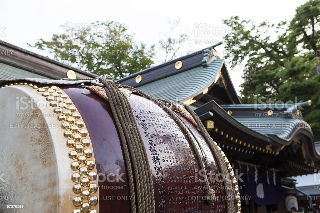 Festival at the Japanese Shrine in Tokyo stock photo