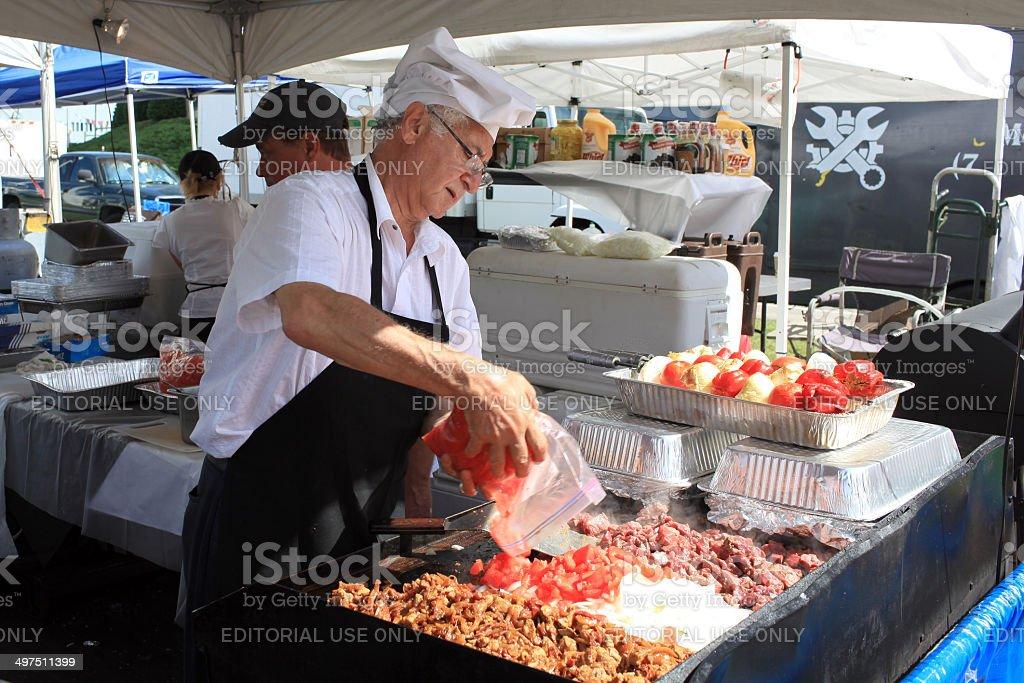 Festival Cook stock photo