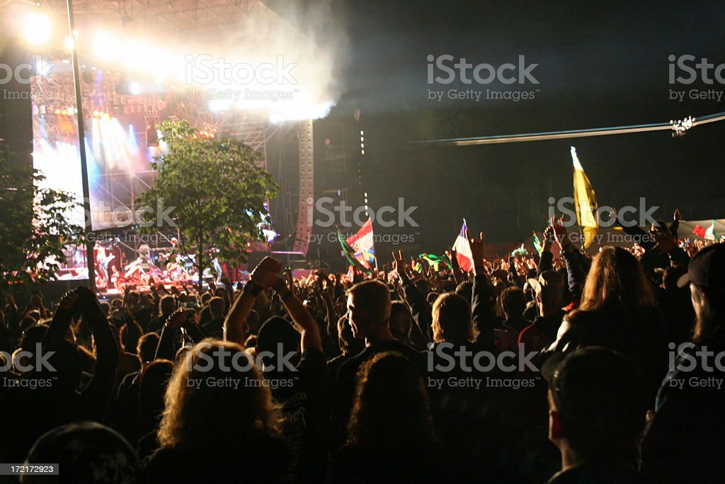 Festival crowd stock photo