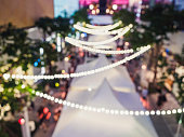 Festival Event Party Blurred People Background Lights decoration