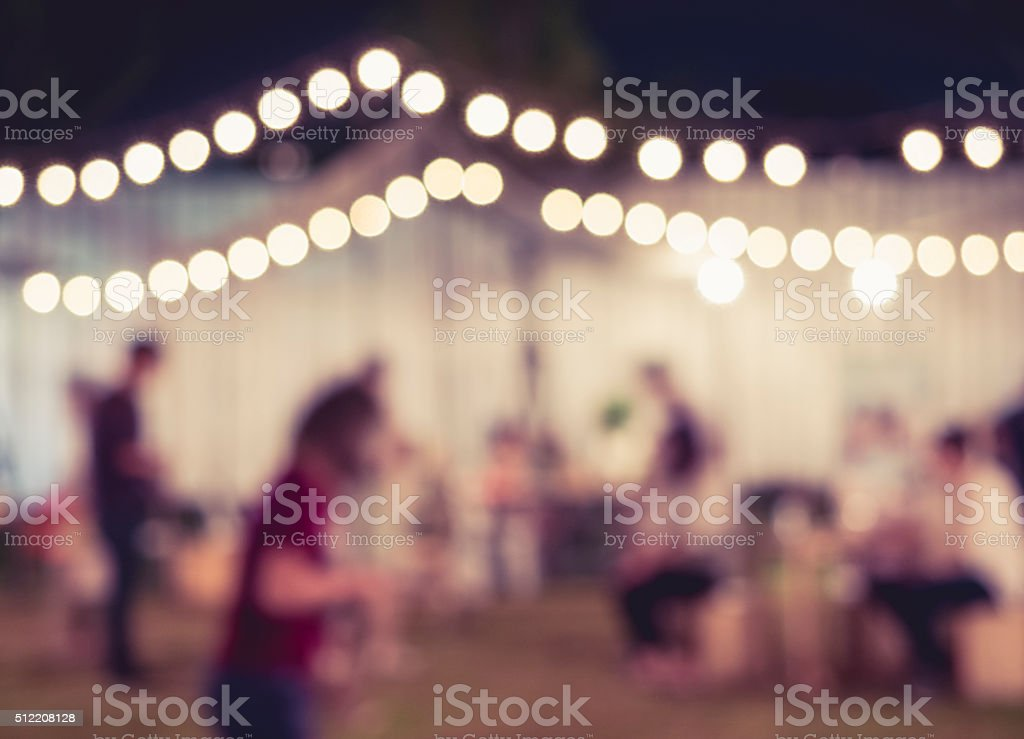Festival Event Party Blurred People Background stock photo