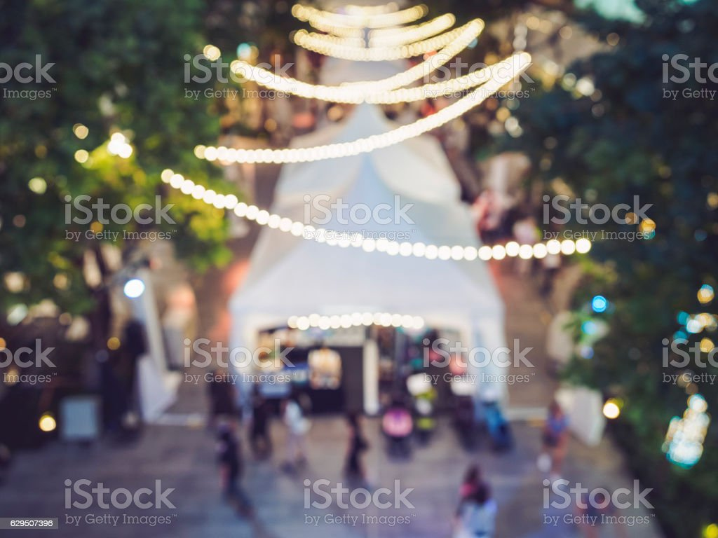 Festival Event Party People Blurred Lights decoration Background stock photo
