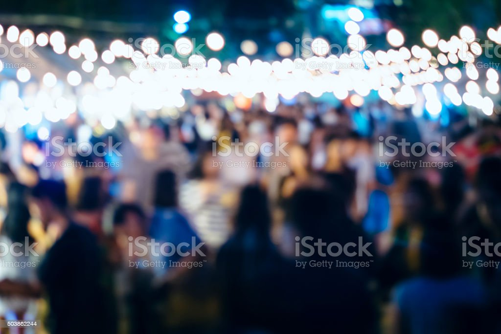Festival Event Party with Blurred People Background stock photo