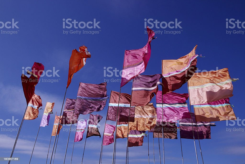 Festival Flags stock photo