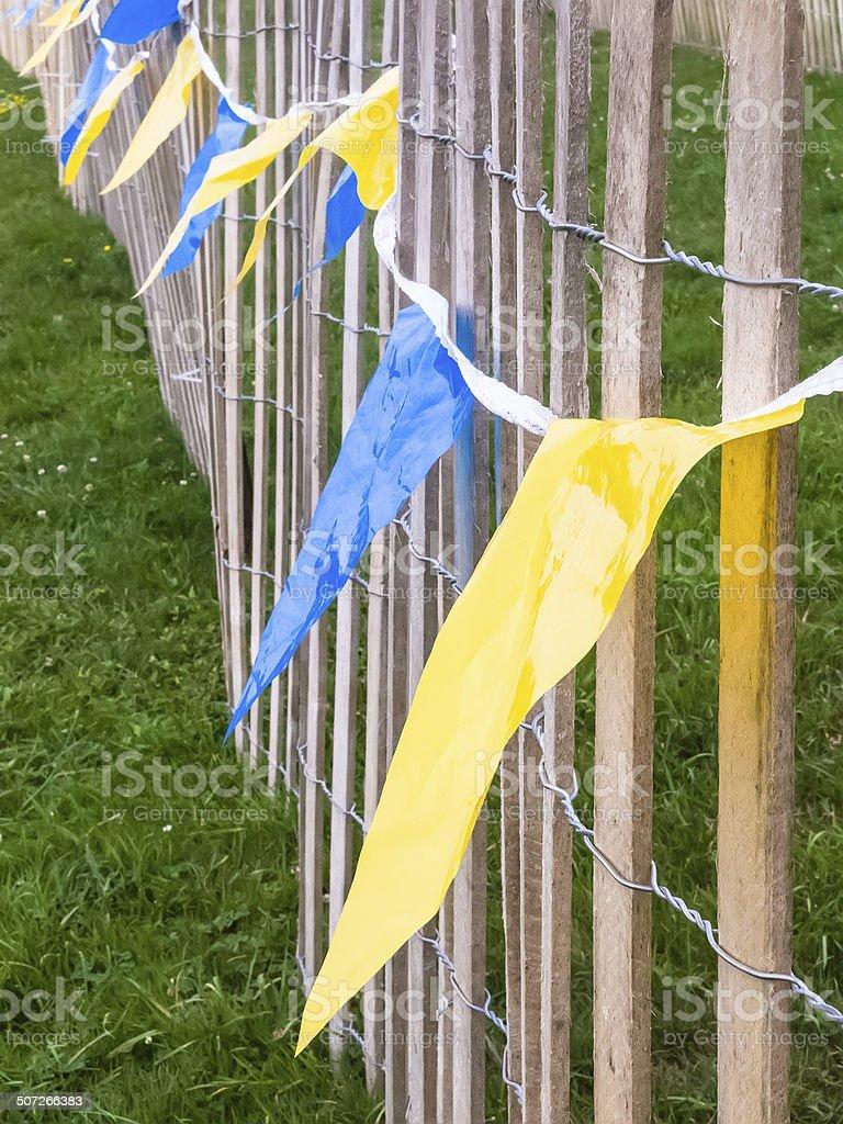 Festival flags stock photo