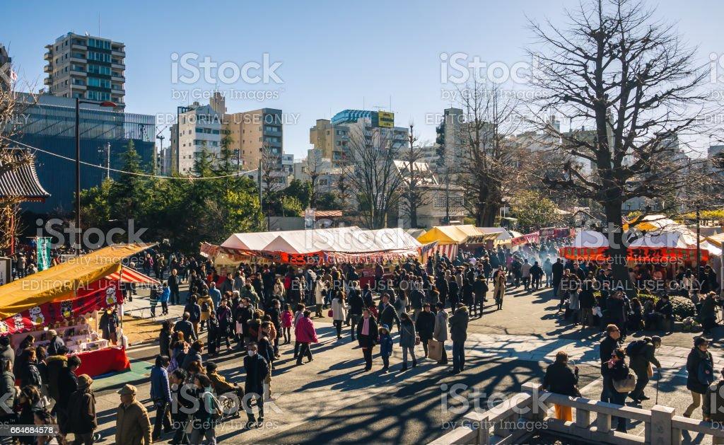 Festival food stalls, Tokyo stock photo
