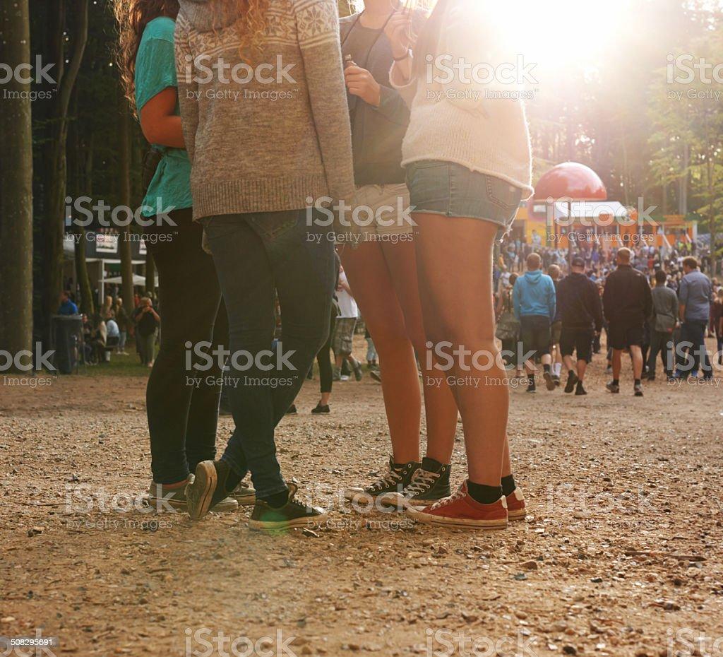 Festival fun stock photo