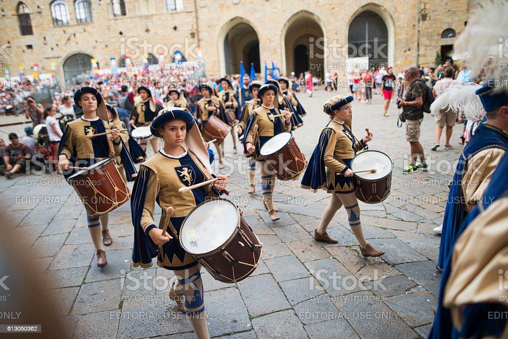 Festival in Volterra, Tuscany, Italy stock photo