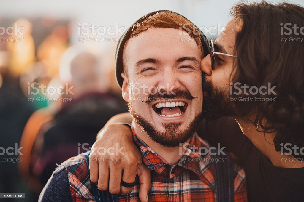 Festival Kisses stock photo