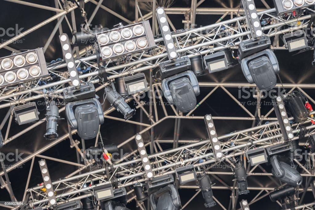 festival lighting rig stock photo
