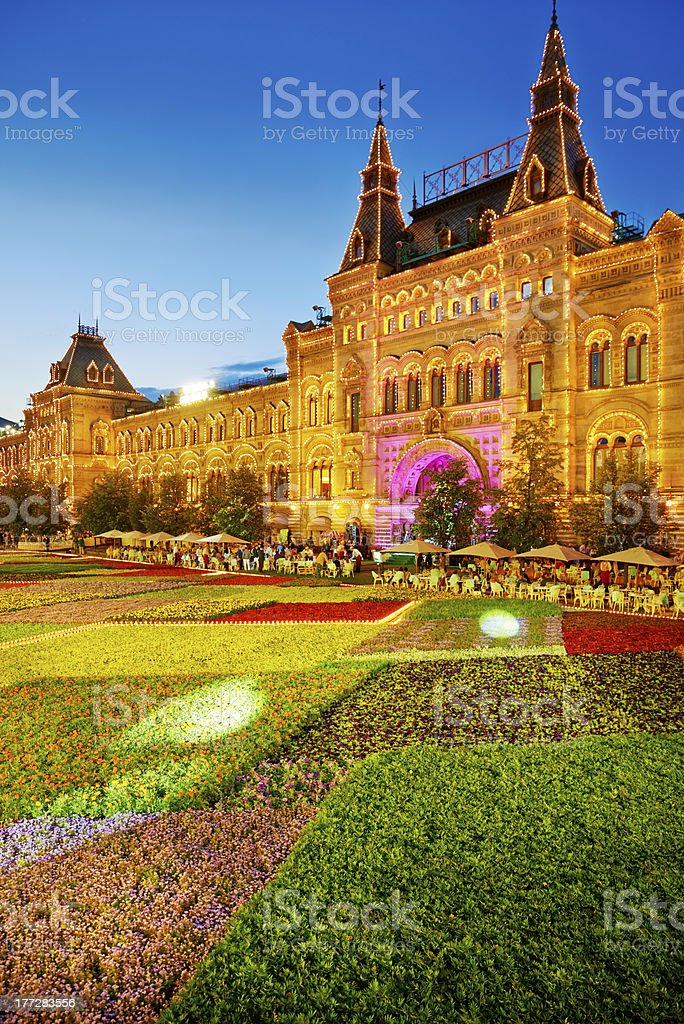 Festival of flowers on Red Square royalty-free stock photo