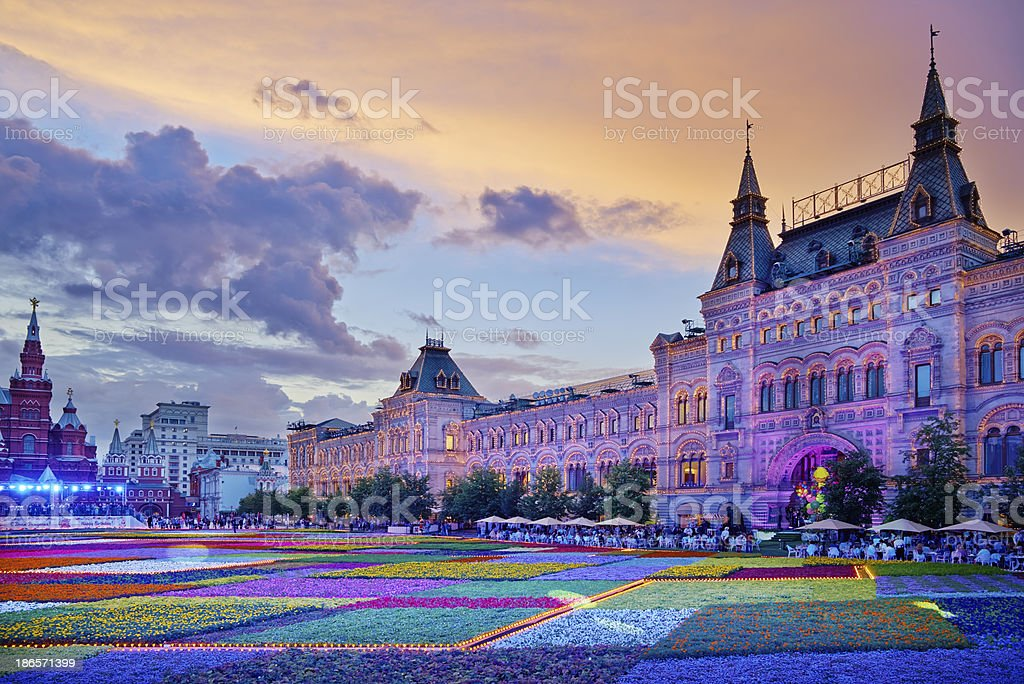 Festival of flowers on Red Square. royalty-free stock photo