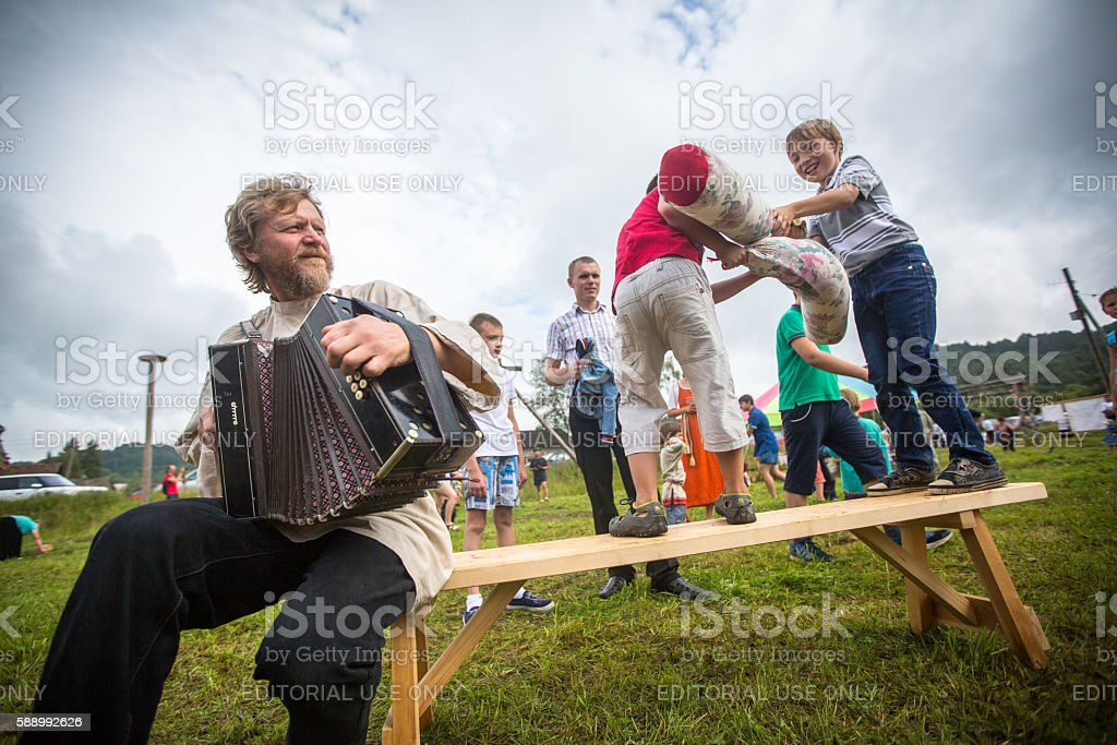 Festival of folk culture Russian Tea stock photo