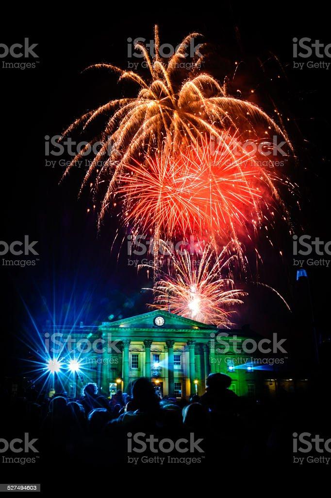 Festival of Light - Huddersfield stock photo