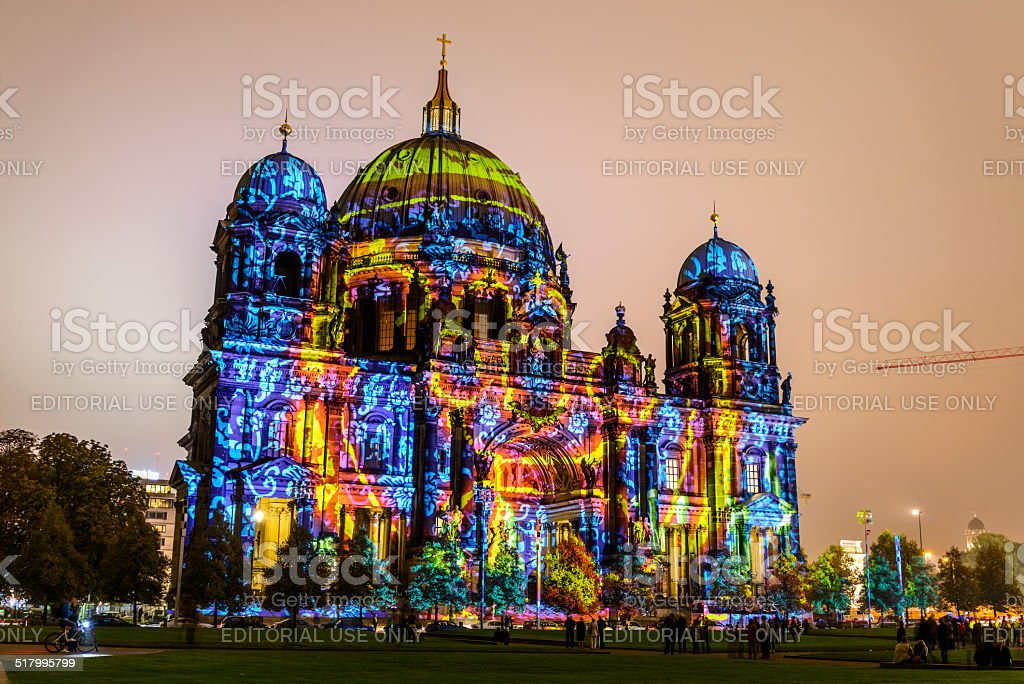 Festival of Lights 2014 - Berlin Cathedral stock photo