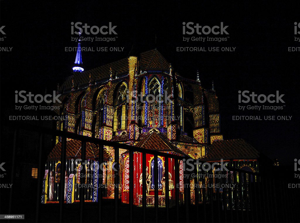 Festival of Lights, Chartres stock photo