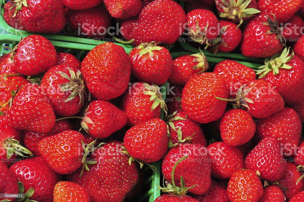 Festival Strawberries on Display stock photo