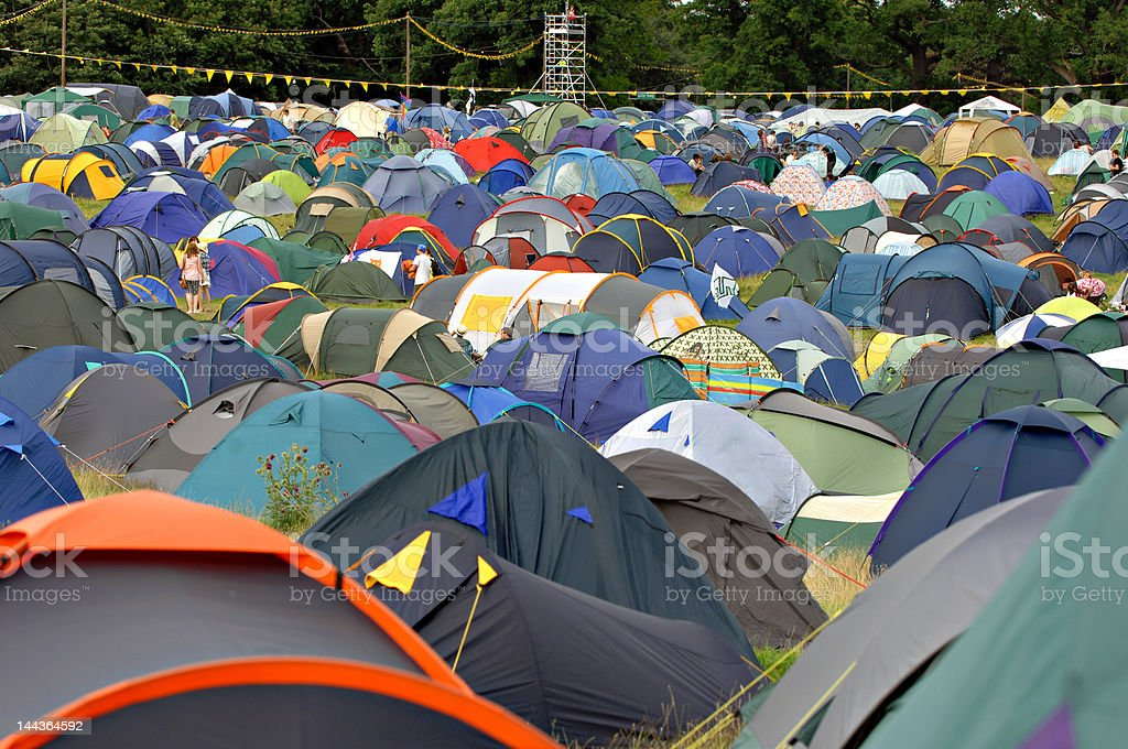 Festival tents stock photo