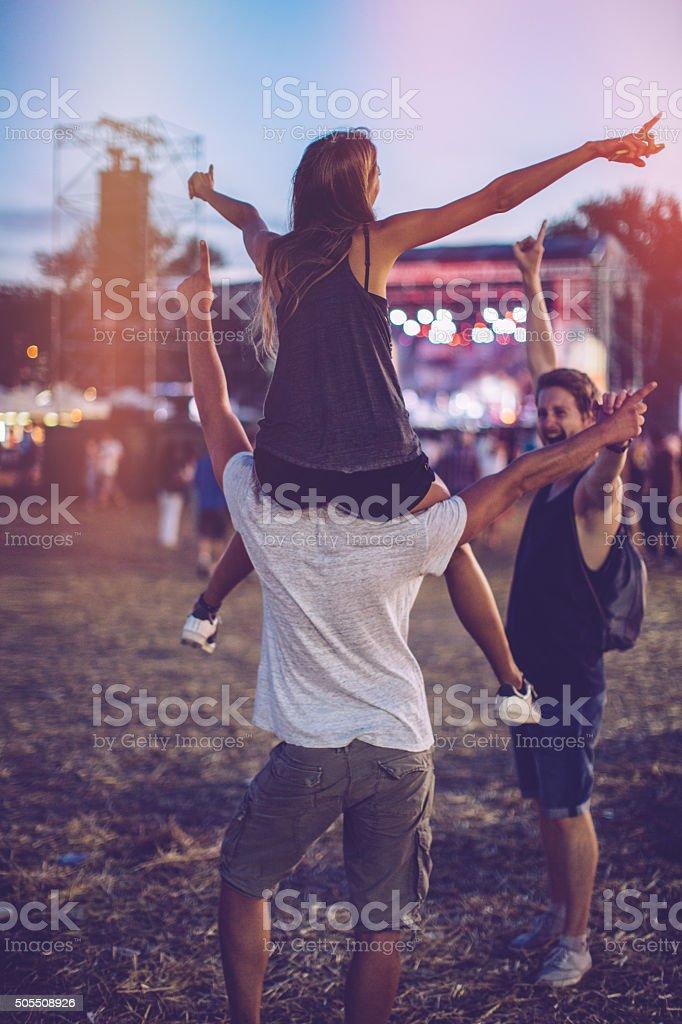 Festival vibes stock photo