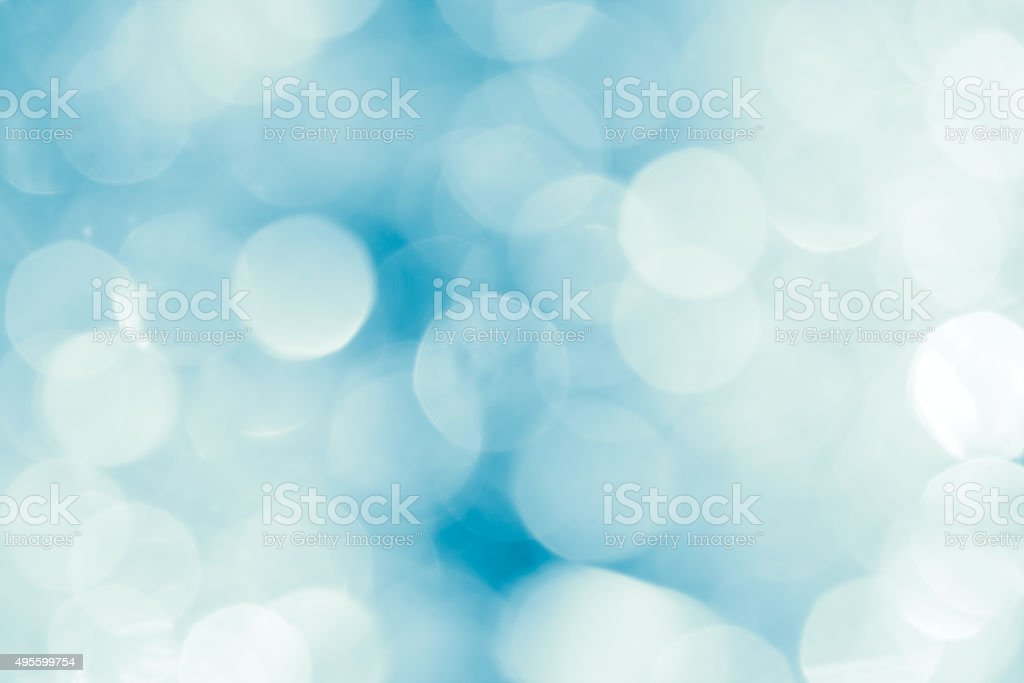 Festive abstract blurred white and blue background stock photo