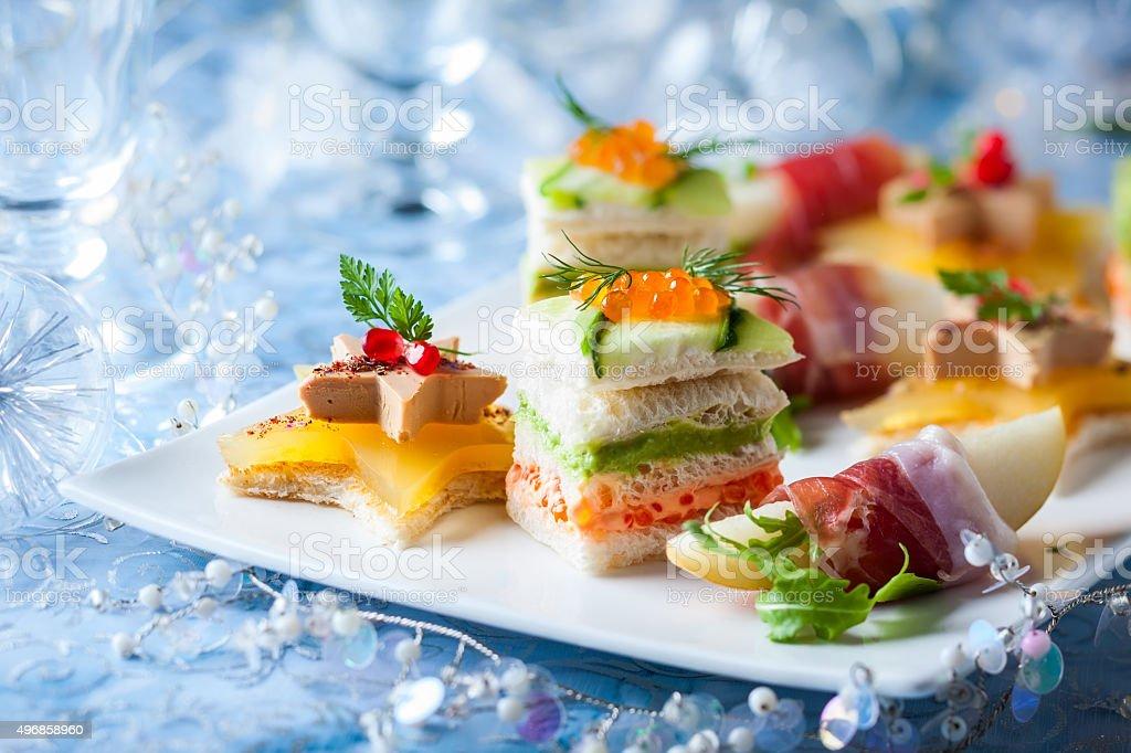 Festive appetizer stock photo
