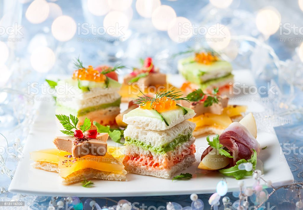 Festive appetizer stock photo