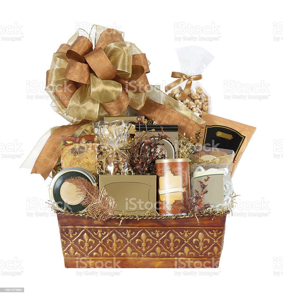 Festive Autumn Gift Basket royalty-free stock photo