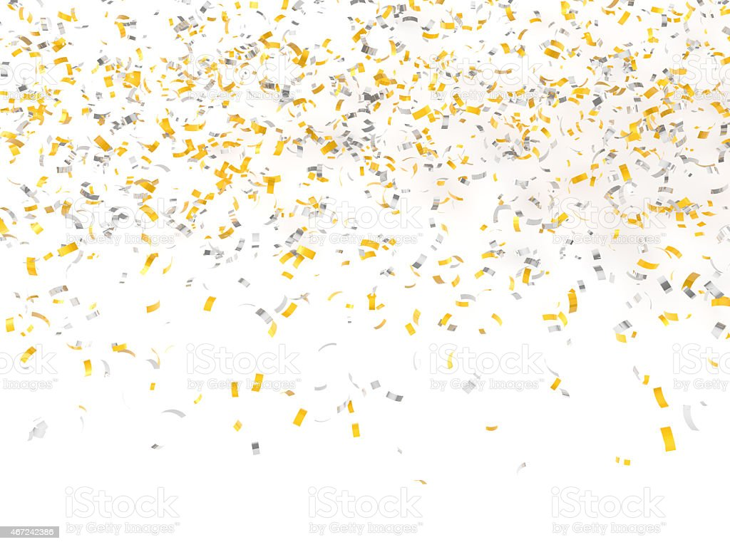 festive background of confetti stock photo
