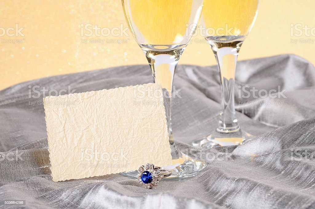 festive background with champagne stock photo