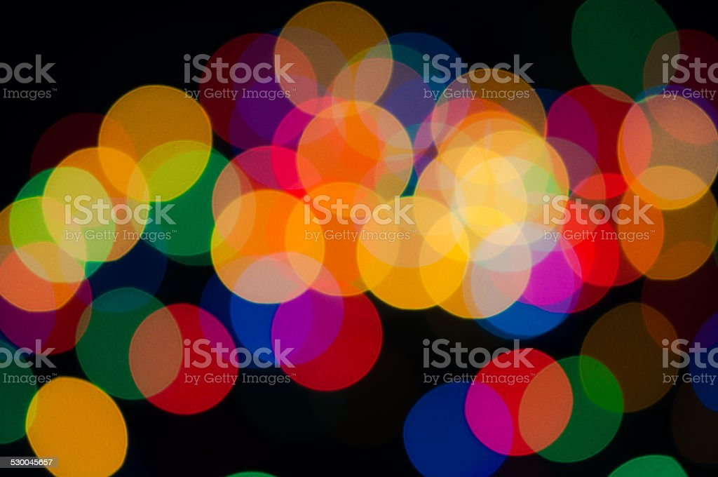 Festive background with colorful lights stock photo