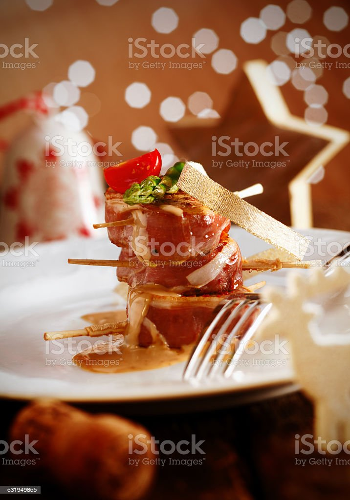 Festive Banquet Meal stock photo