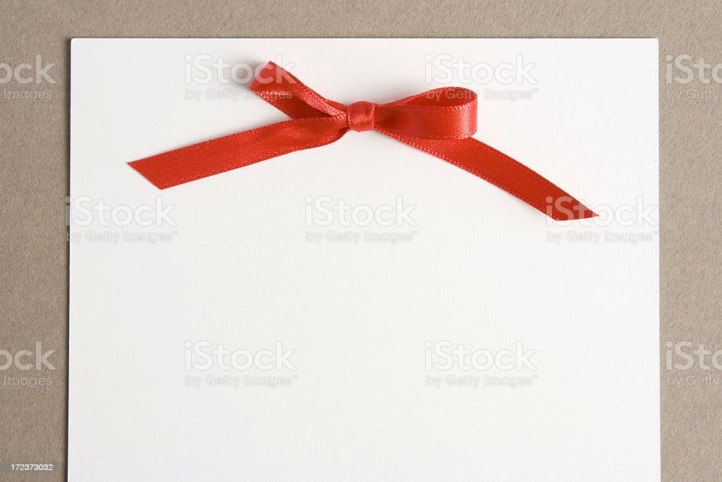 Festive bow royalty-free stock photo