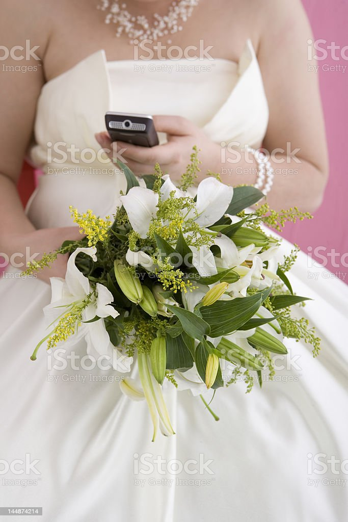 Festive Bridal Bouquet royalty-free stock photo