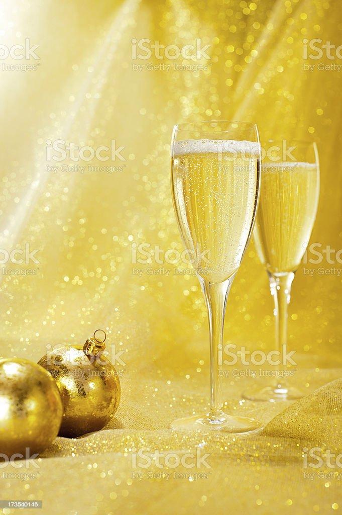 Festive Champagne royalty-free stock photo