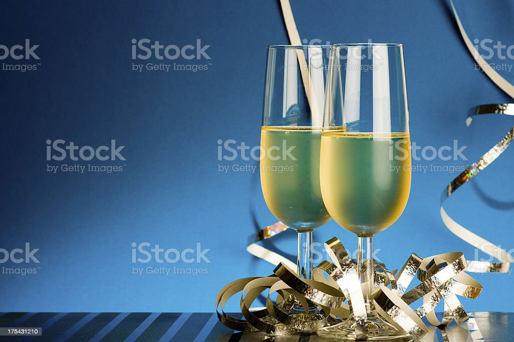 Festive champagne royalty-free stock photo