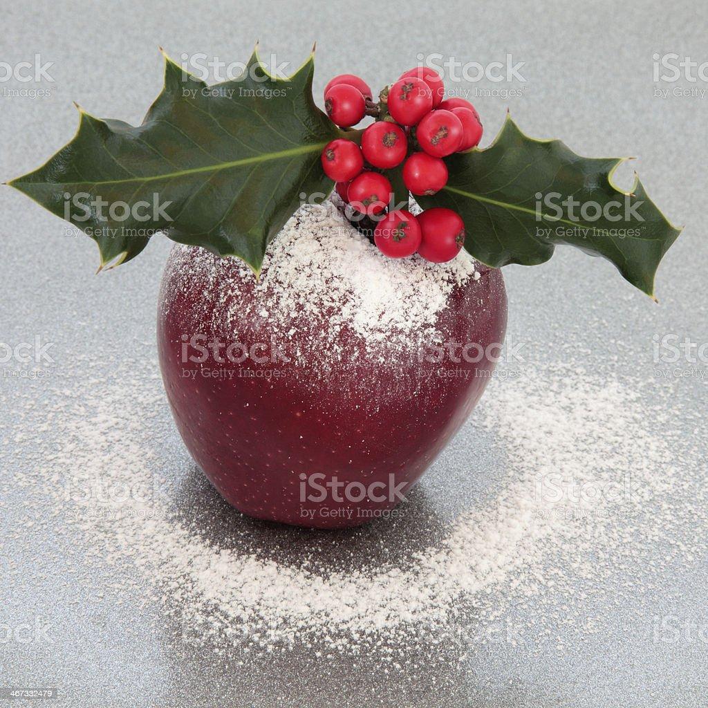 Festive Christmas Apple royalty-free stock photo