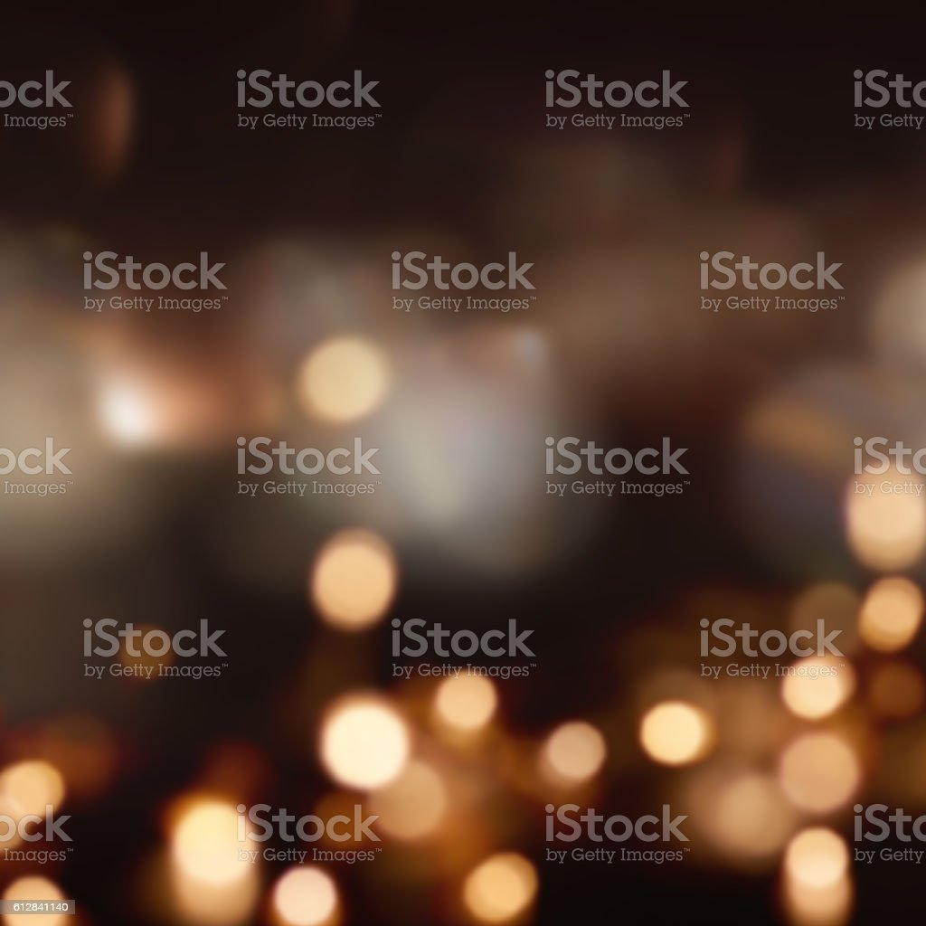 Festive christmas background with many lights stock photo