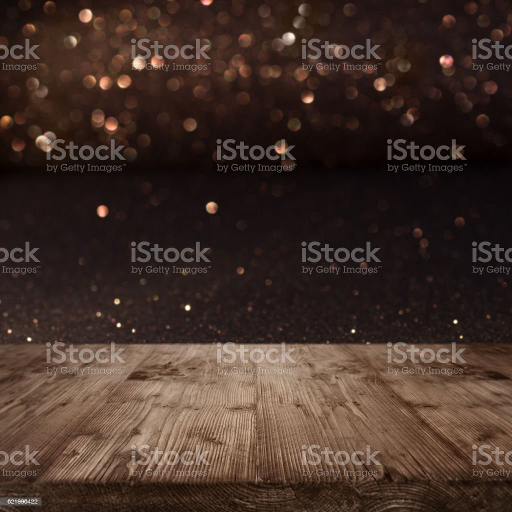 Festive Christmas background with shimmering light stock photo