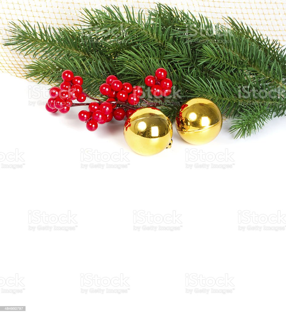 Festive Christmas card stock photo