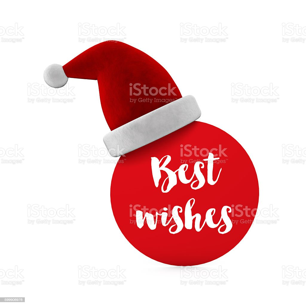 Festive christmas message stock photo