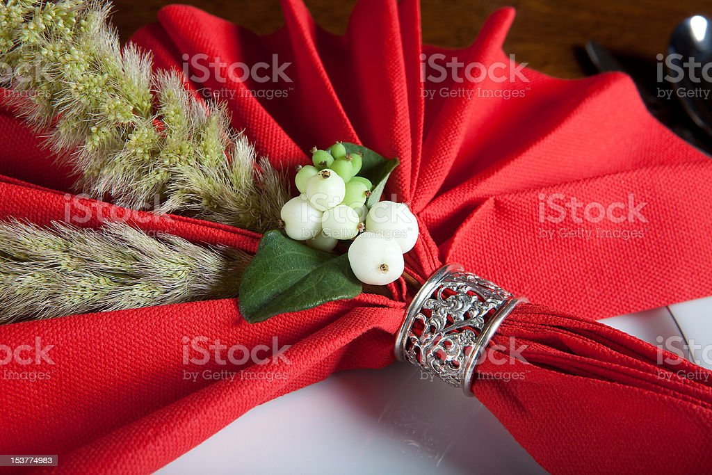 Festive christmas napkin 3 royalty-free stock photo