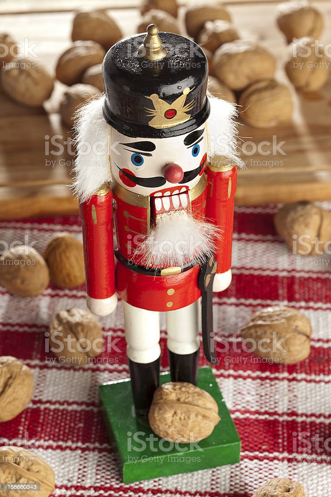 Festive Christmas NutCracker stock photo
