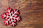 Festive christmas snowflake decoration