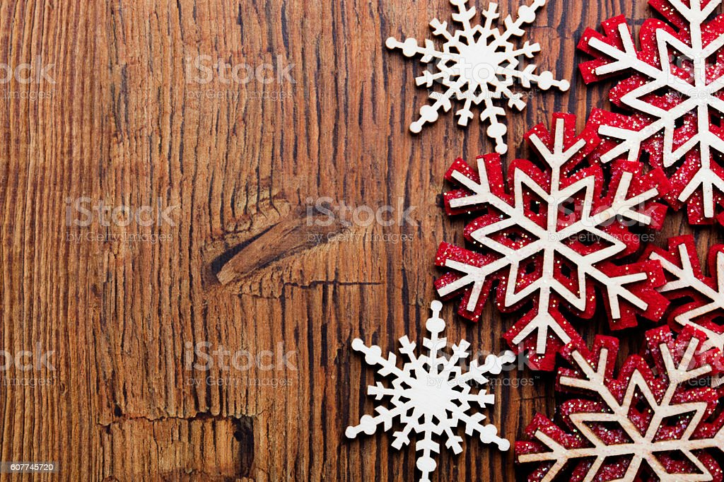 Festive christmas snowflake decoration stock photo