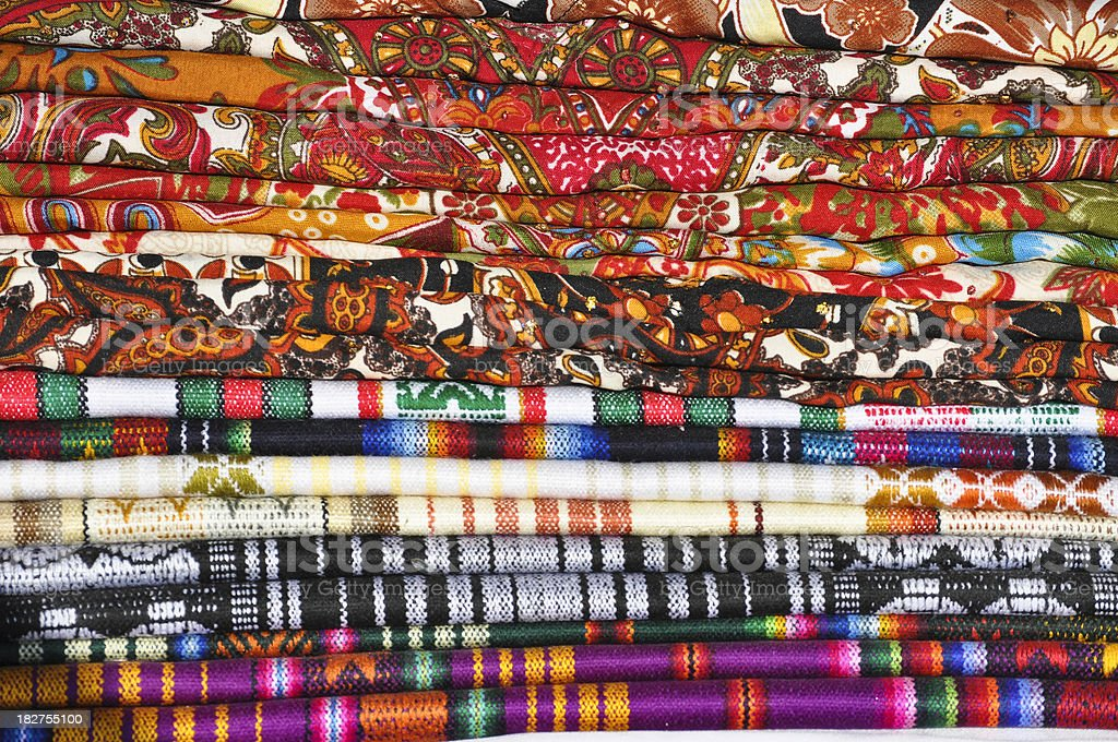 Festive cloth colors royalty-free stock photo