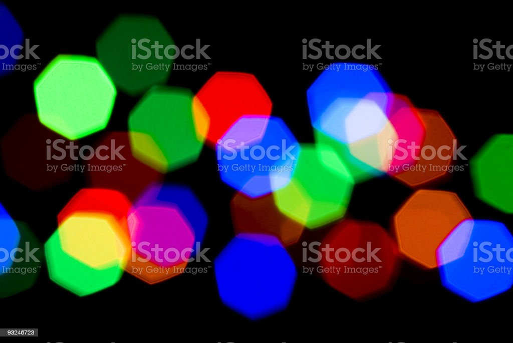 Festive colorful Blurred lights royalty-free stock photo